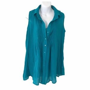 Fever Women Shirt blouse with attached tank top M